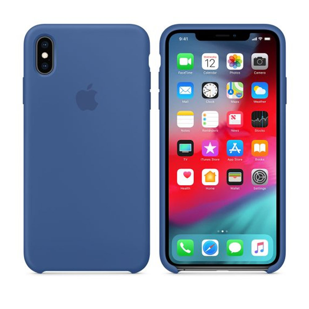 Чехол IPhone XS Max Silicon Case MVF62ZM/A Delft Blue
